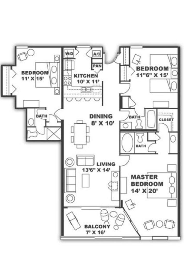 Unit 609 Floor Plans